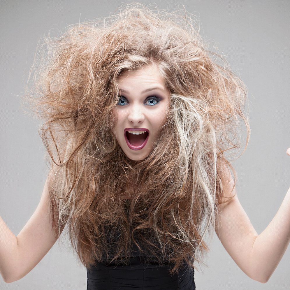 Blond hair beautiful model